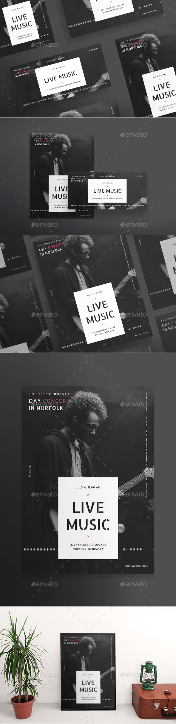 Live Music Flyers - Concerts Events