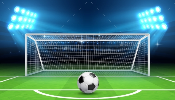 Soccer Football Championship Vector Background - Sports/Activity Conceptual