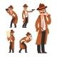 Cartoon Private Detective - GraphicRiver Item for Sale