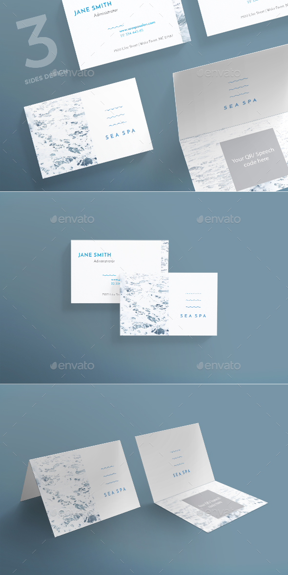 Spa Weekend Business Card - Corporate Business Cards