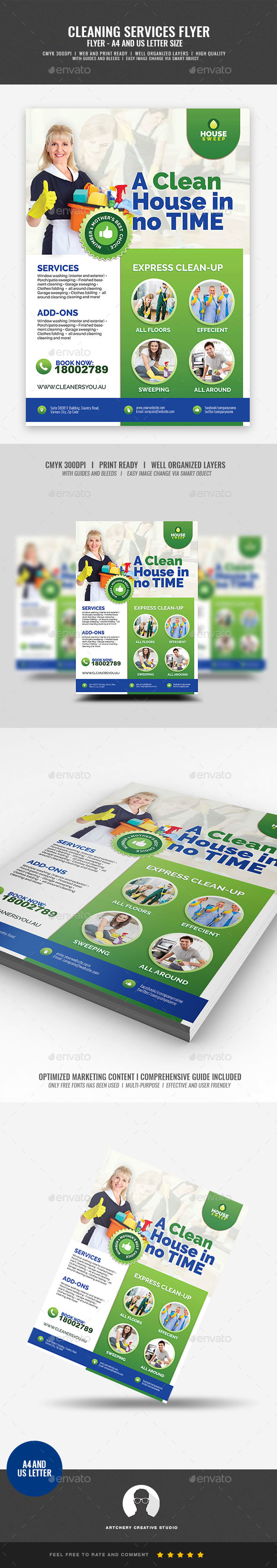 Commercial Cleaning Promotional Flyer - Corporate Flyers