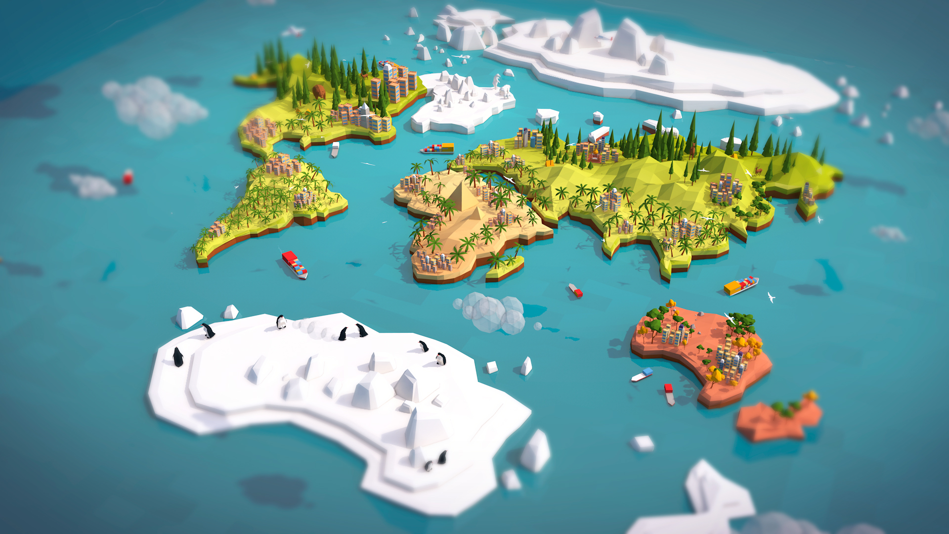 Cartoon Low Poly Earth World Map By Antonmoek 3docean