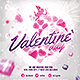 Valentine`s day, Lovers Party Flyer - GraphicRiver Item for Sale