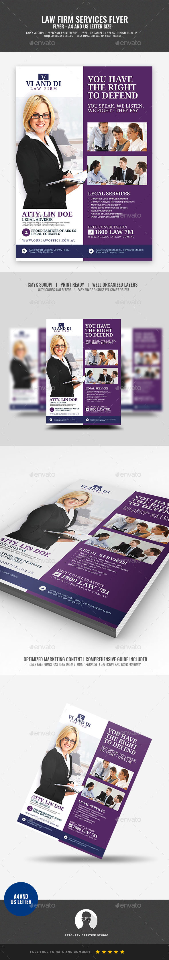 Law Firm Promotional Flyer - Corporate Flyers