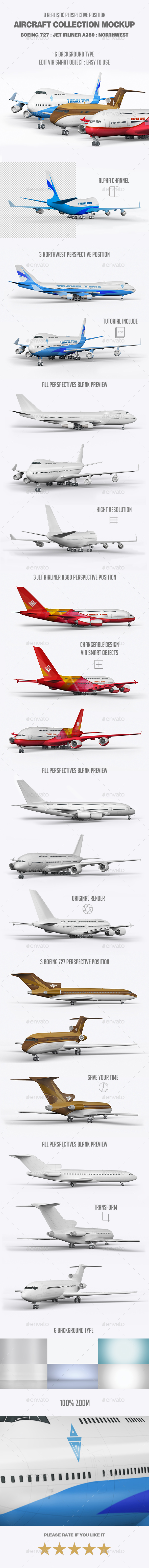 Aircraft Collection Mock-Up - Vehicle Wraps Print