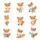 Foxes Showing Various Emotions