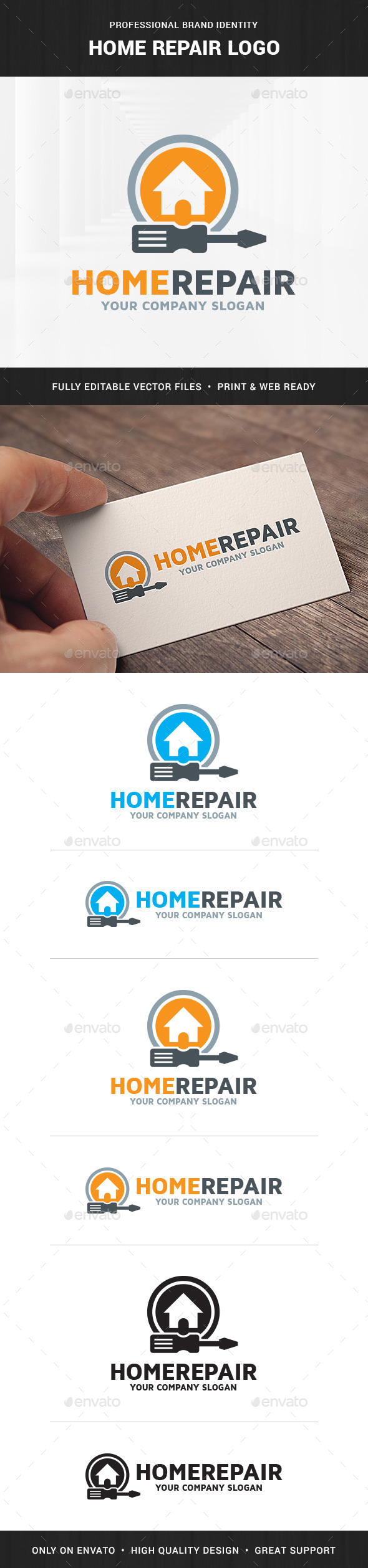 Home Repair Logo Template - Objects Logo Templates