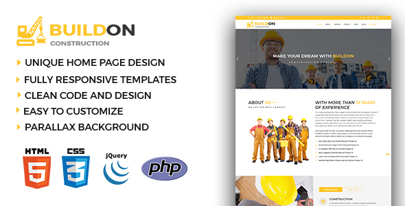Buildon - Construction & Business HTML5 Template - Business Corporate