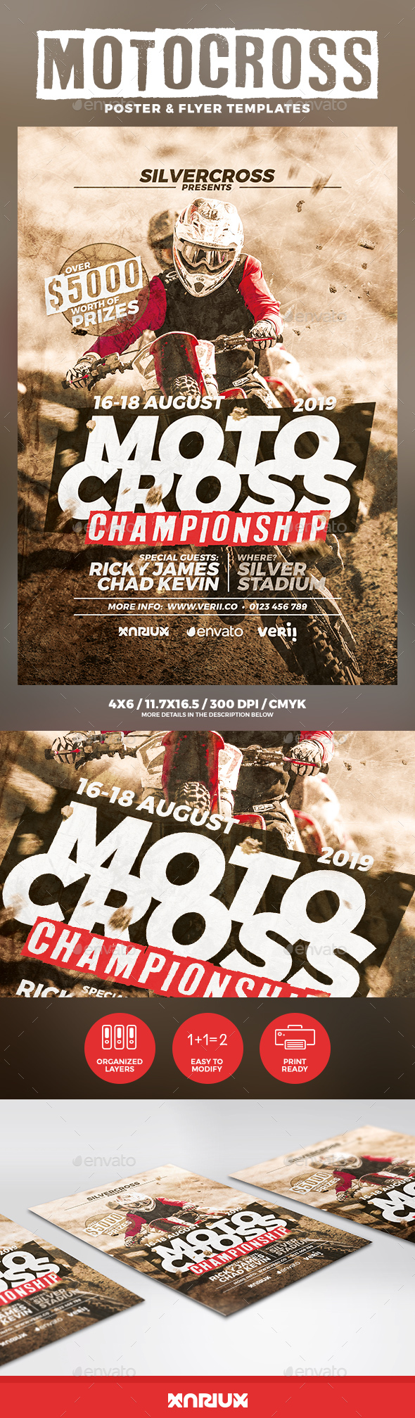 Motocross Flyer and Poster - Sports Events