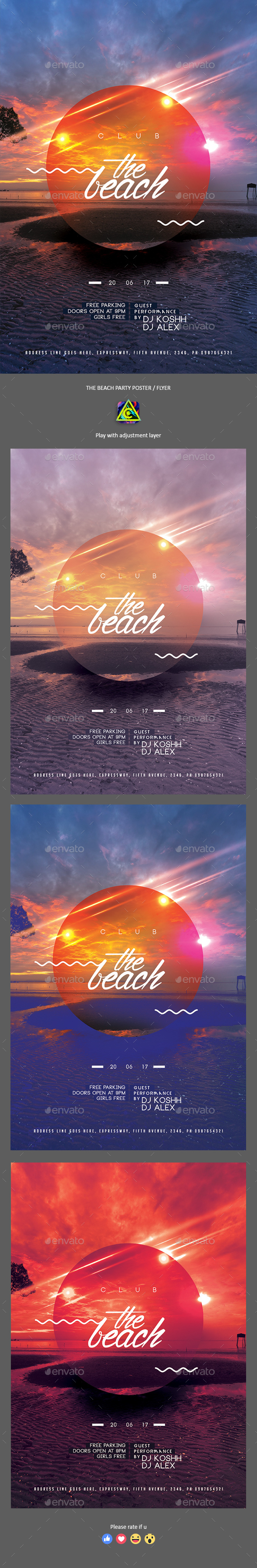The Beach Poster / Flyer - Clubs & Parties Events