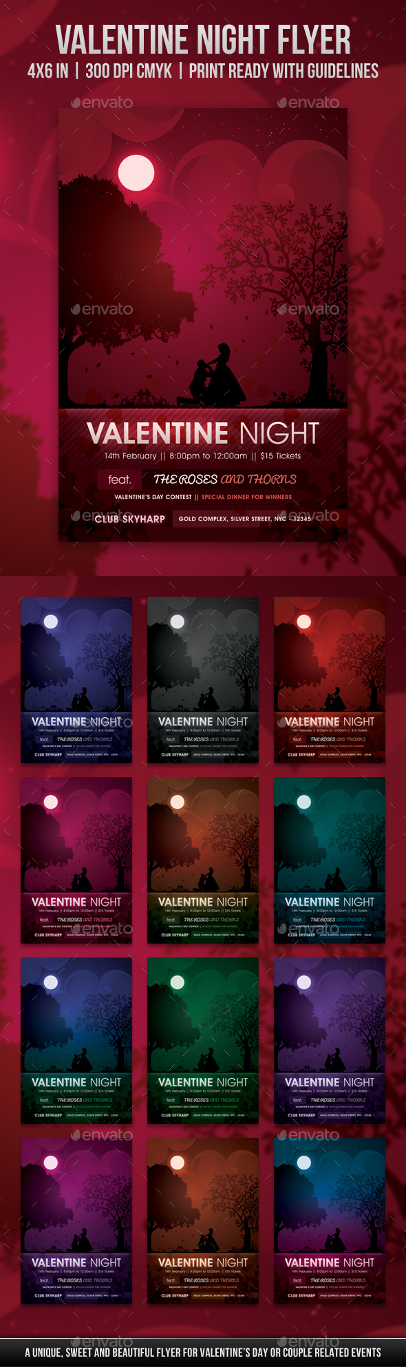 Valentine Night Flyer - Holidays Events