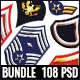 Military Rank Insignia Badges Bundle