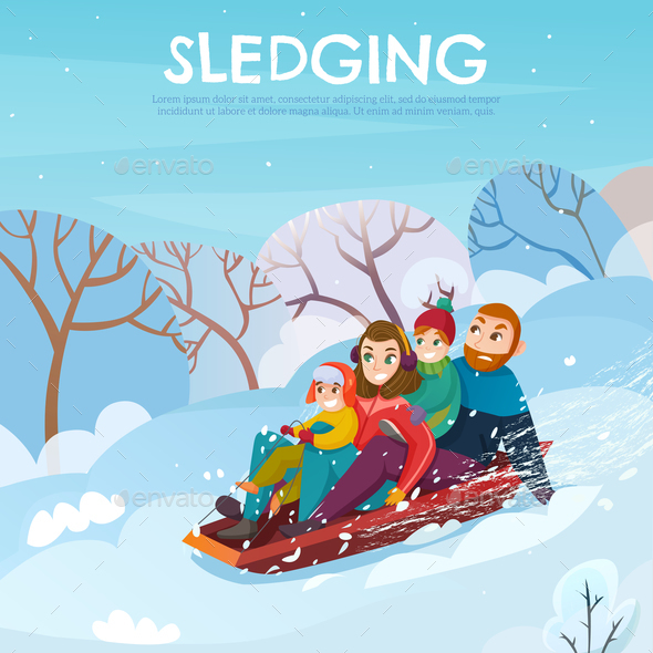 Winter Recreation Illustration - Sports/Activity Conceptual