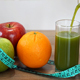 Pouring Fresh Green Smoothie and Fruits - VideoHive Item for Sale