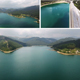 Drone Flying Over the Dam and Over the Lake in the Mountains - VideoHive Item for Sale