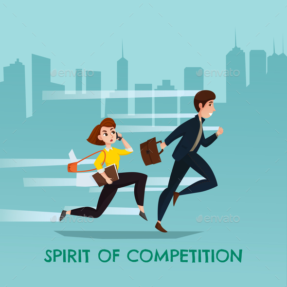 Spirit Of Competition Urban Poster - People Characters