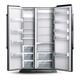Opened Wider Empty Refrigerator