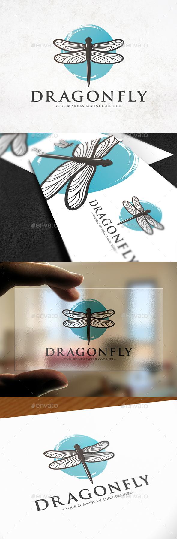 Sky Dragonfly Logo Template - Animals Logo Templates