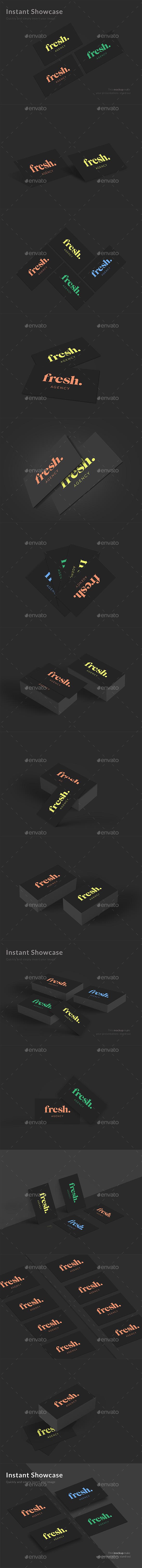 Dark Business Card Mockups - Business Cards Print