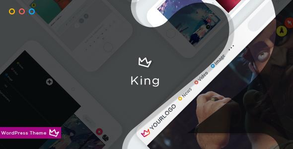 King - WordPress Viral Theme - Blog / Magazine WordPress