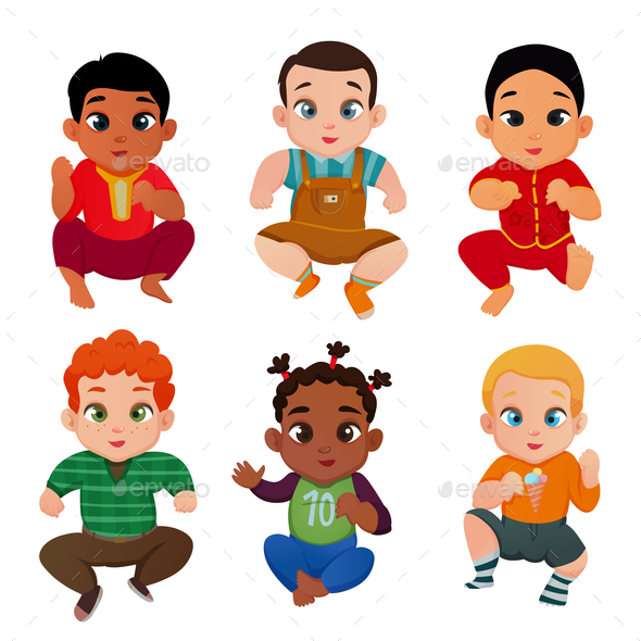 Baby International Set - People Characters