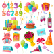 Celebration Birthday Cartoon Set