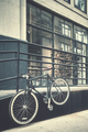 Hanging bike by a street, New York City, USA. - PhotoDune Item for Sale