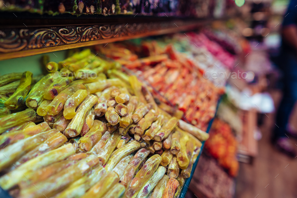 Turkish delight in Istanbul Grand Bazaar - Stock Photo - Images