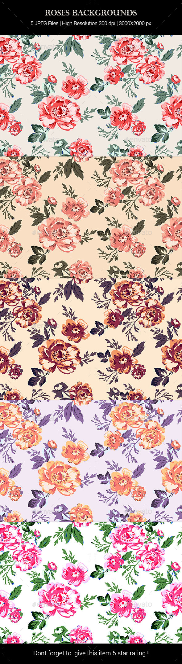 Roses Backgrounds - Patterns Backgrounds