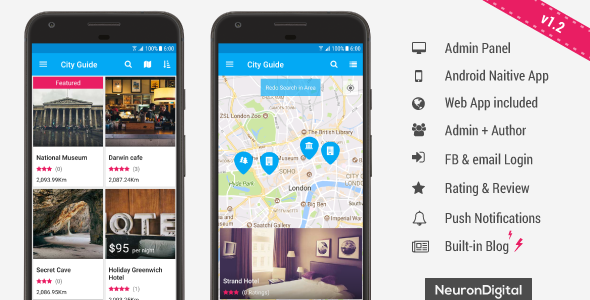 Ultimate City Guide App Template - CodeCanyon Item for Sale