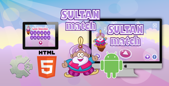 Sultan Match - HTML5 Game (CAPX) - CodeCanyon Item for Sale