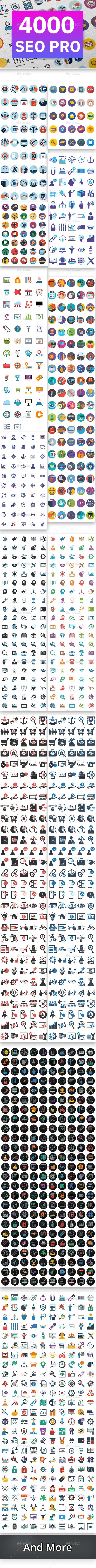 4000 Seo Pro (Bundle) Icons - Icons