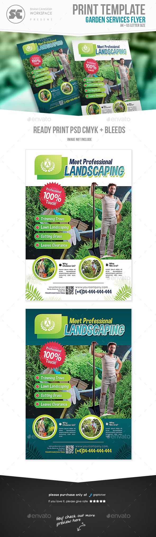 Garden Service Flyer - Miscellaneous Events