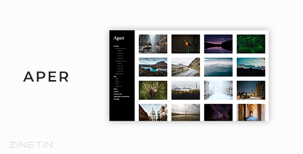 Aper - Responsive Creative Multi-purpose Portfolio Template