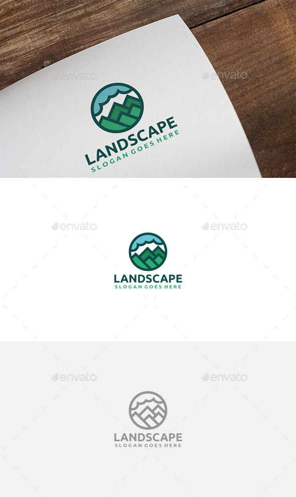 Mountains Landscape Logo - Nature Logo Templates