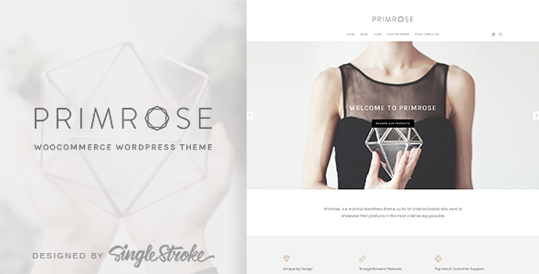 Primrose - A Minimal WooCommerce WordPress Theme for Creative eCommerce Websites