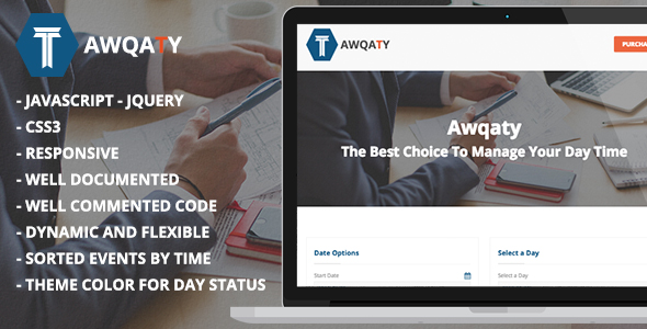CodeCanyon Awqaty Time and Daily Events Management Plugin 21290601