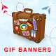 Travel Animated Gif Banner Set - GraphicRiver Item for Sale