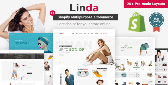Linda - Mutilpurpose eCommerce Shopify Theme - Fashion Shopify