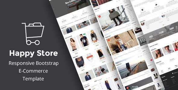 Image of HappyStore | Simple eCommerce HTML Template