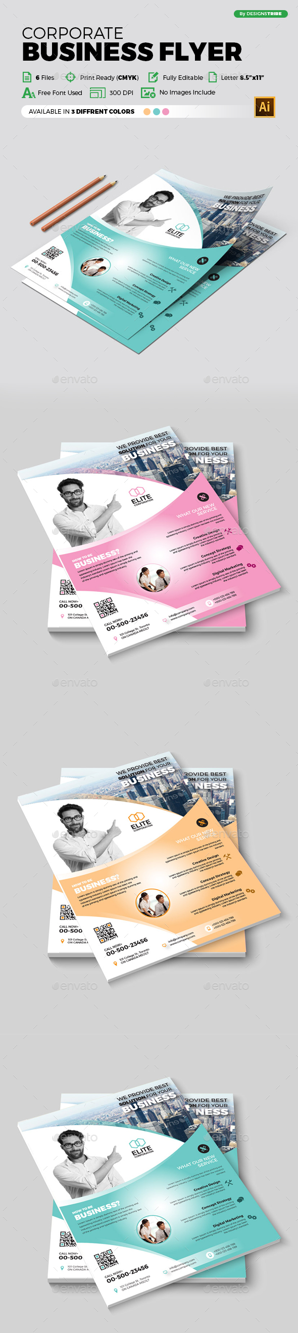 Flyer – Multipurpose 364 - Flyers Print Templates