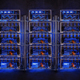 Row of bitcoin miners - PhotoDune Item for Sale