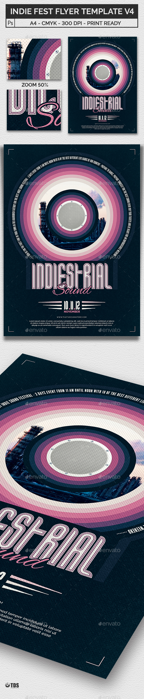 Indie Fest Flyer Template V4 - Concerts Events