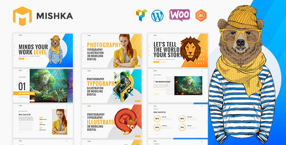 ThemeForest Mishka A Trendy Portfolio WordPress Theme 21071109