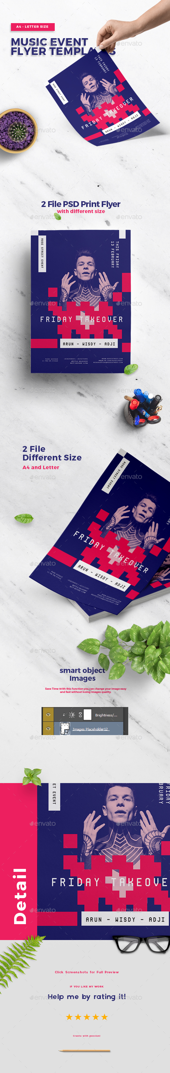Music Event Flyer Templates - Clubs & Parties Events