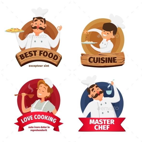 Logo or Labels Set for Restaurant. - Miscellaneous Vectors