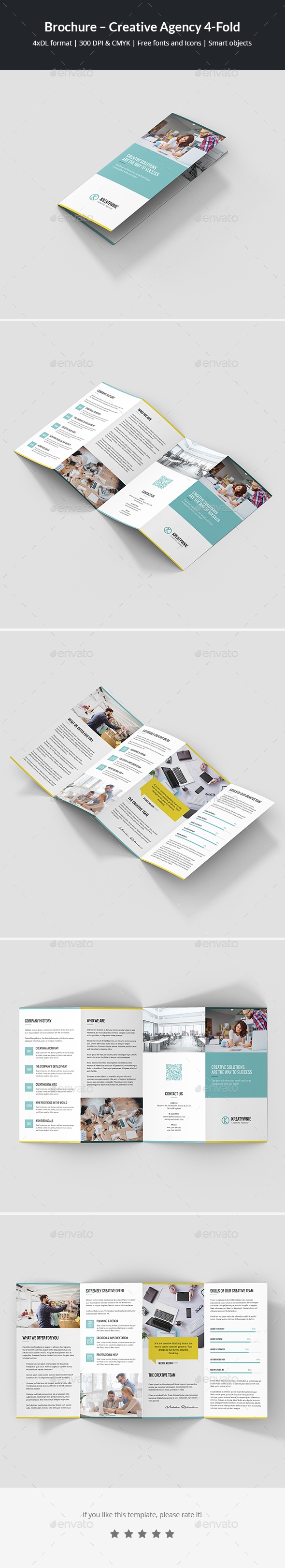 Brochure – Creative Agency 4-Fold - Corporate Brochures