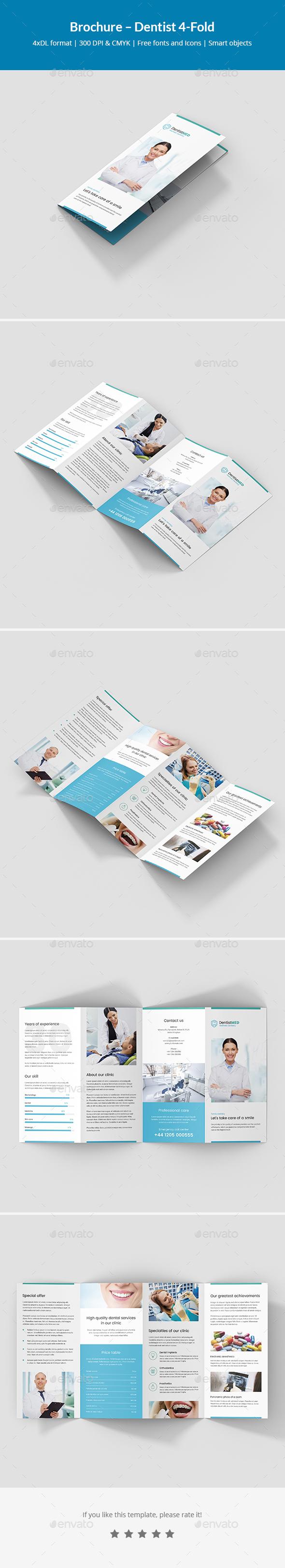 Brochure – Dentist 4-Fold - Informational Brochures