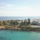 Beautiful Aerial View, Drone Shot Along the Coast of the Sea on Cyprus - VideoHive Item for Sale