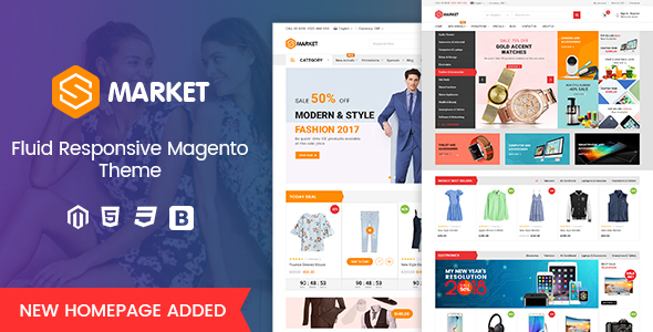 Image of Smarket - Fluid Responsive Magento 2.2 MultiPurpose Theme